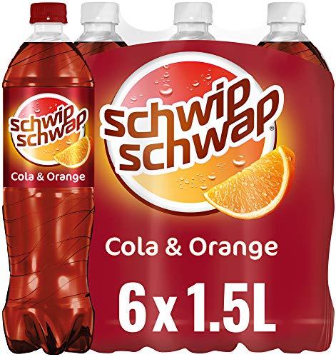 Schwip Schwap, Das Original – Koffeinhaltiges Cola-Erfrischungsgetränk mit Orange (6 x 1.5 l)