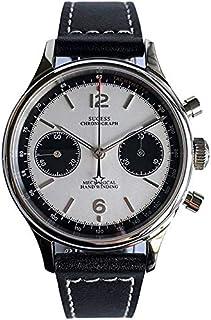 XINAO - Reloj cronógrafo gaviota movimiento panda, esfera zafiro mecánico reloj piloto 1963 50m impermeable hombres relojes
