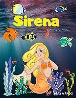 Sirena libro da colorare: Libro da colorare sirena per bambini, pagina da colorare unica, per i bambini 3-6-8 anni.