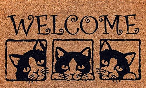 Cranberry Mats Designer Natural Coir Non Slip Doormat For Patio Front Door All Weather Exterior Doors 18 X 30 Inch 3 Box Animals Cats Buy Online In Gibraltar At Gibraltar Desertcart Com Productid 135770846