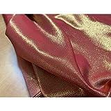 Satin stoff Lurex Rot Gold Schwere doppelseitige hoch 180