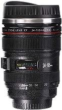 Shoptoshop Camera Lens Shaped Coffee Mug with Lid, 400 Ml, Black (Mug_001)