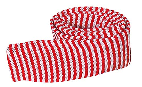 Meyercordt GmbH Manchon Tricot, L 1 m x 1,5 cm Rouge/Blanc