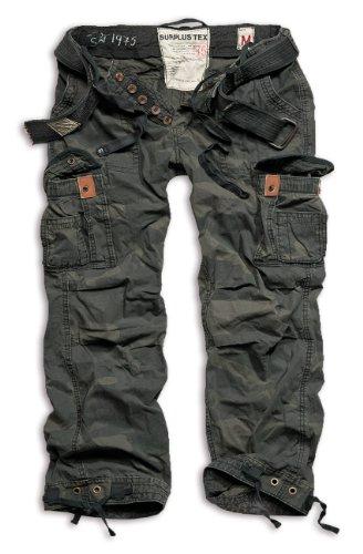 Surplus Raw Vintage Premium Herren Cargo Hose, schwarz, 7XL