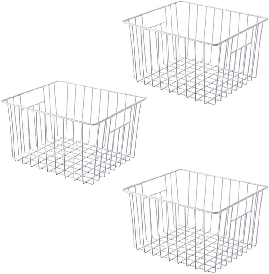 SANNO Refrigerator Award Freezer Baskets Storage Excellent W Metal Wire