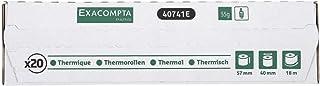 Exacompta 40741E, Bobina para boletos de tarjetas de crédito y terminal de pago de 57 mm x 18 m, pack de 20 rollos