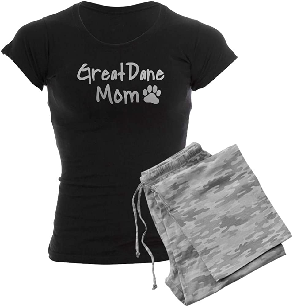 CafePress 海外並行輸入正規品 Great Dane MOM 即日出荷 Pajamas Women's PJs Dark