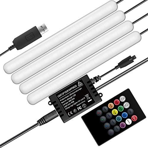 SKSNB Luces Interiores RGB para automóvil Luces de Tira LED mejoradas para automóvil con Control Remoto Luz de Ambiente para automóvil música Sync Brillo Iluminació