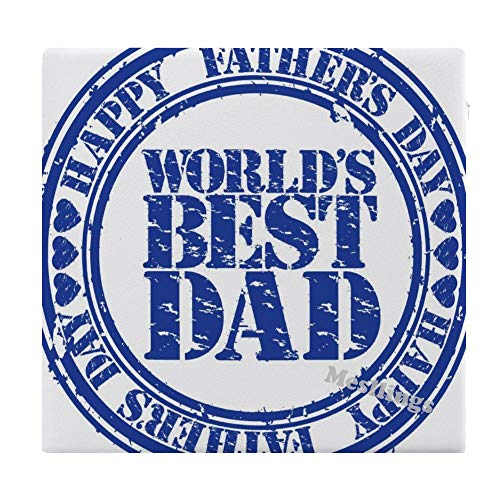 "Mesllings World's Best Dad Home Printed Fashion Square Comfortable Seat Cushions Chair Pads Office Soft Cushion - 15"" x 14"""