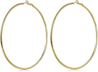 100mm Big Hoop Earrings,Gold or Platinum Plated Extra Large Hoop Earrings for Women …