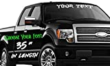 35-Inch Custom Personalized Name Vinyl Decal Sticker   Fade-Resistant Waterproof Decorative Text   Easy to Apply on Car Truck, Boat, Trailer Window or Bumper   10 Fonts & 10 Colors   by CustomDecal US