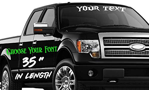 35-Inch Custom Personalized Name Vinyl Decal Sticker | Fade-Resistant Waterproof Decorative Text | Easy to Apply on Car Truck, Boat, Trailer Window or Bumper | 10 Fonts & 10 Colors | by CustomDecal US