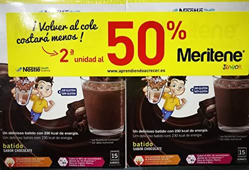 MERITENE JUNIOR CHOCOLATE 15 SOBRES 2ªUNIDAD 50% DUPLO. TOTAL 30 SOBRES