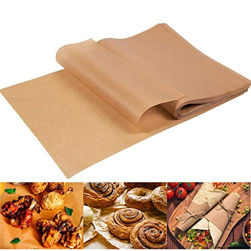 100 Sheets Baking Parchment Paper, Designed for 12x16 inches Baking Sheet, Unbleached, Non-Stick, Not Curl, Precut, Perfect for BBQ, Frying, Cookie Baking