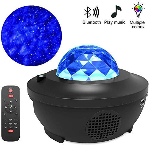 Nachtlicht, LED Sternenhimmel Projektor Nachtlampen, Bunte LED USB Lade Bluetooth Lautsprecher wasserdicht Projektor Licht dekoratives Licht für Baby Kinder Erwachsene
