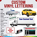 Design Your Own (19 Height Sizes + Unlimited Fonts + 35 Colors) Custom Vinyl Lettering Decal Sticker Auto Car Window, Business Glass, Boat, Truck, Door, Trailer Windshield Graphic Banner Personalized
