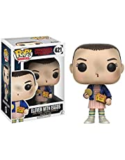 Funko Pop Stranger Things Eleven with Eggos Vinyl Figure , Styles May Vary - With/Without Blonde Wig