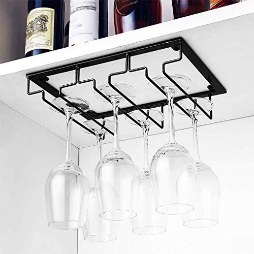 DGDG 3 Row Wine Glass Supporto della cremagliera sotto Il Governo Calice di Vetro Bicchieri di Vino Bagagli Gancio in Metallo for Bar Kitchen 6-9