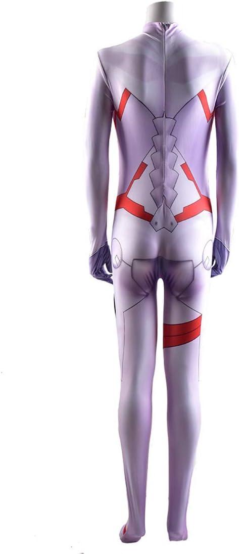 Anime Kostuum Darling In The Franxx 02 Cosplay Jumpsuit Kerstmis Halloween Stage Onesies Girls Boys Fancy Dress Tights,Men/XXL 175~180cm Men/S 155~160cm