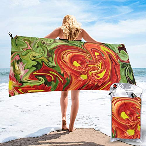 N/F Mineral Colored Marble With Nacre Bath Towels Large Bath Towel Set Super Absorbent And Fast Drying For Bathroom And Beach 2 Sizes Personalized