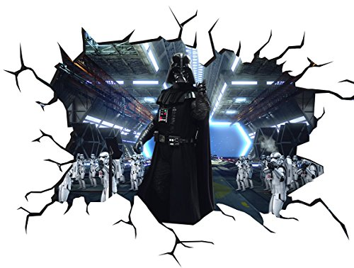 Chicbanners Star Wars Darth Vader V100 Wall Crack Wall Sticker Wall Sticker Selbstklebendes Poster Größe 1000 mm breit x 600 mm tief (groß)