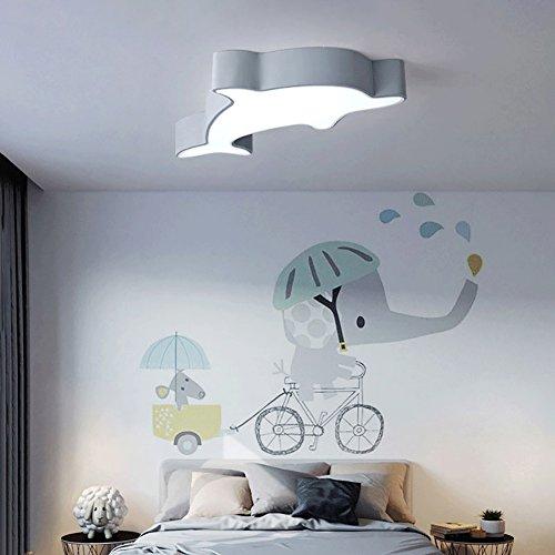 OOFAY LIGHT Lampada da soffitto a LED Delfino Camera da Letto per Bambini Studio Minimalista Moderno Camera da Letto lampade nordiche Macaron,Gray