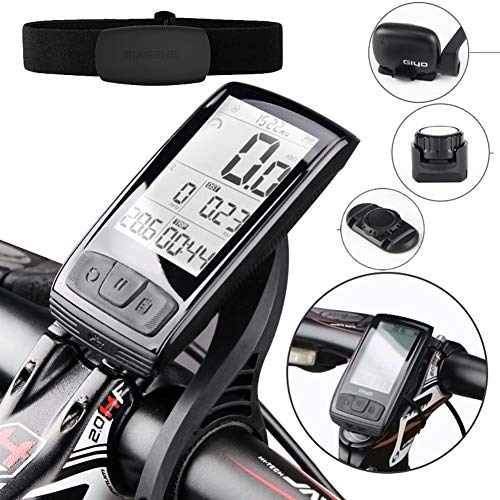 HONGLONG Bicycle Computer wirelessly, Bike Speedometer, with Speed and Cadence Sensor, Backlight, 2.5-inch Large LED Screen, Waterproof Long AkkulaufzeitIPX5, is The Best Companion for Cycling