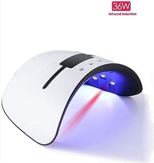 XIRUI Lámpara para Uñas, Luz Led Ultravioleta para Secador De Uñas con Inducción Infrarroja Y 3 Configuraciones De Tiempo