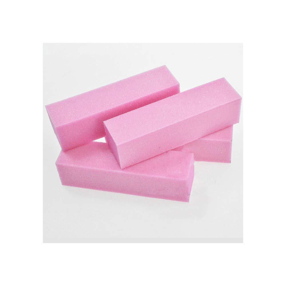 Max 85% OFF 1 set Pink Nail Art Block Sanding Professional Buffer Buffs Factory outlet