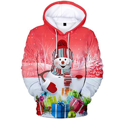 Dasongff capuchonpullover heren dames unisex 3D print hoodie drawstring tassen kerstpullover lange mouwen met capuchon sweatshirt overstijgt vrije tijd blouse Christmas Jumper tops