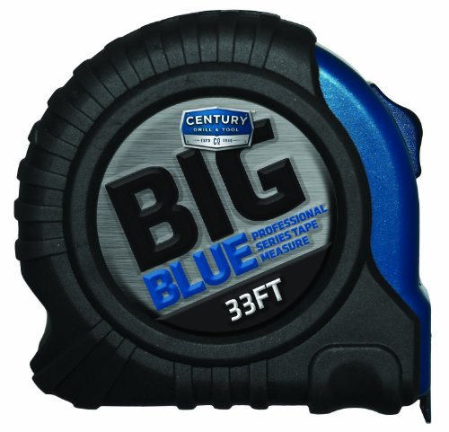 Century Drill & Tool 72833 Big Blue Tape Measure, 33-foot