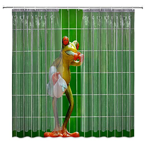 cute frog shower curtain for sale