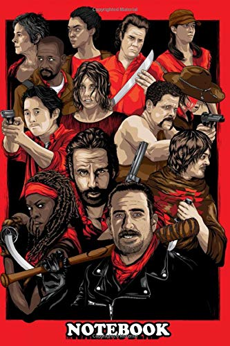 Notebook: Walking Dead Poster Collection , Journal for Writing, College Ruled Size 6
