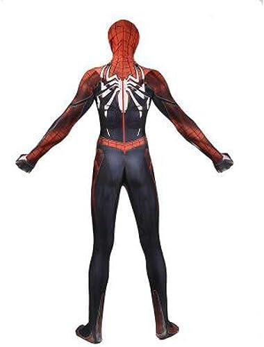 YUNMO équipeHommest Fun Personnages de Dessins animés de Films de Guerre Civile Costume Spider-Man Collants Siamois Cosplay Costumes d'anime (Couleur   A, Taille   XXL)