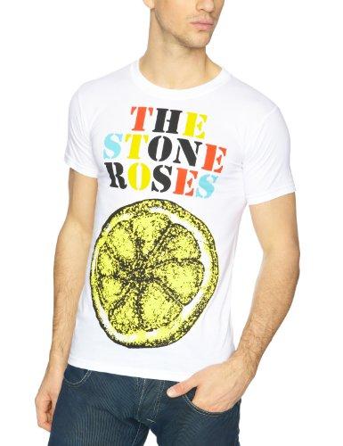 The Stone Roses - Camiseta con cuello redondo de manga corta para hombre, color blanco, talla L [Italia]
