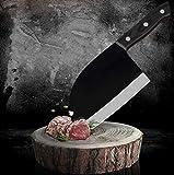 Cuchillo de chef Espiga completa de carnicero Cuchillo de acero inoxidable 7Cr17 del cuchillo del cocinero servio carne vegetal Cleaver for la cocina que acampa