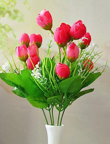 Mode Bouquet,fleurs artificielles de haute qualité fleur artificielle de couleur rose vif fleurs de soie pour le mariage et décoratif , yellow
