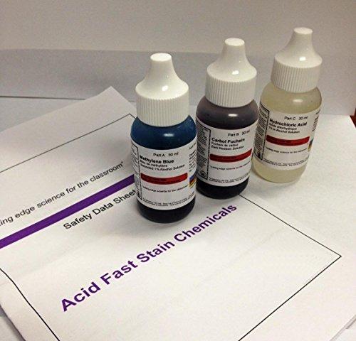 AmScope Acid Fast Stain Kit, 3pc