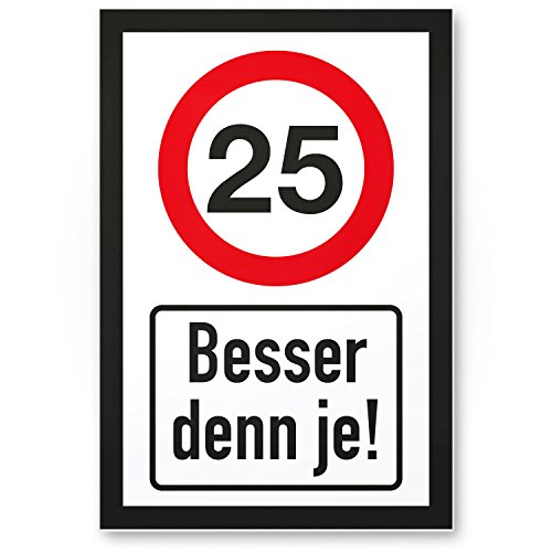 Bedankt! 25 jaar Beswant je, kunststof bord - cadeau 25 verjaardag, cadeau-idee verjaardagscadeau vijfentige, verjaardagsdeco/partydecoratie/feestaccessoires/verjaardagskaart