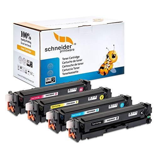 4 Schneider Printware Toner | 50{be17aa2793f672733454fb673c59b7617b1cf06428c6c42b5d3683200cc2cf5e} höhere Reichweite | kompatibel für HP 201X für HP Color LaserJet Pro 200 M252n, M252dw Pro MFP M277dw M277n M274n CF400X CF401X CF402X CF403X