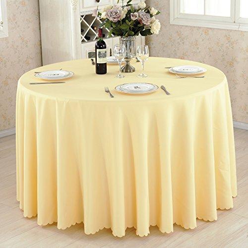 table ronde sur le tissu de l'hôtel, restaurant, mariage de table table cloth, nappe, nappe, couleur, rectangle,,Beige,Cm circulaire