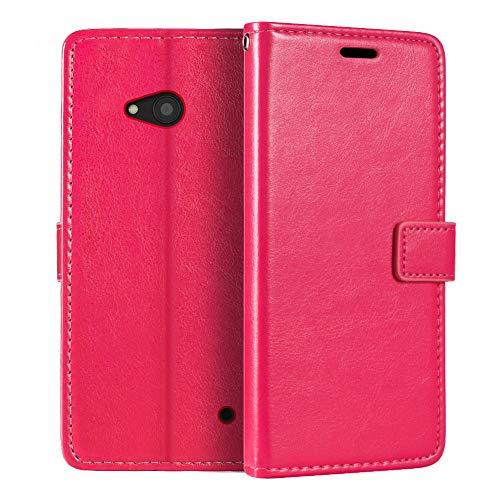 Custodia a portafoglio per Nokia Lumia 640 LTE, in pelle PU di alta qualità, con supporto per carte di credito e cavalletto