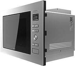 Cecotec Microondas encastrable GrandHeat 2590 Built-In Steel Black. Potencia 900 W, Grill 1000 W, Capacidad 25 litros, 8 Funciones preconfiguradas