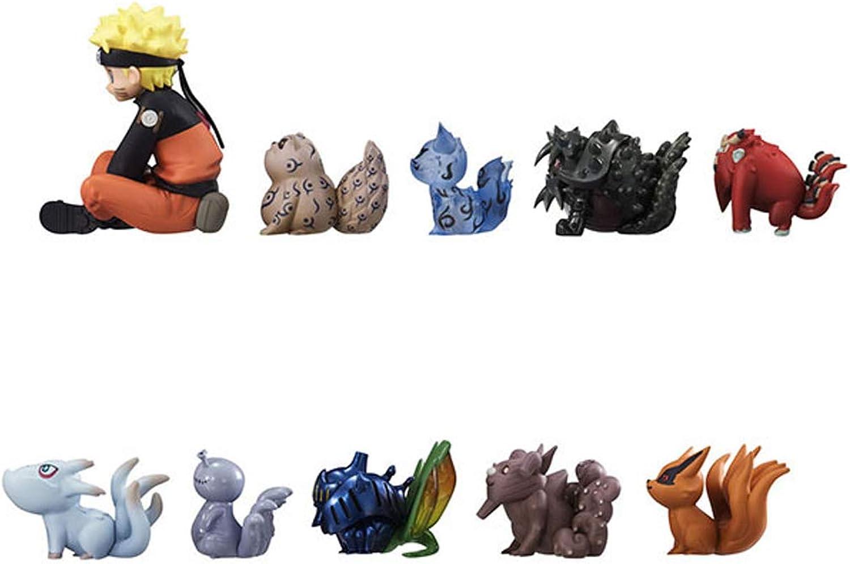 LULUDP Dragon Ball Anime um Naruto Q Version neun-Tailed Naruto Kindheit Kind Tier Hand Modell Statue Dekoration Geschenk Sammlung Handwerk Weihnachten 16CM4-7cm 10 Box Ei B07NWF739R  Zu einem niedrigeren Preis       Ideales Geschenk für alle Gelegenheite