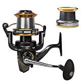 Arvano LJ 9000 Fishing Reel,13Ball Bearings Left/Right Interchangeable Sea Spinning Reel with Spare