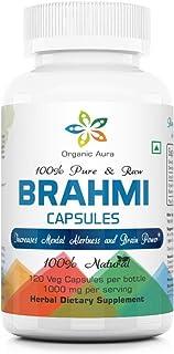 Organic Aura Brahmi Capsules-120 Count. Made with USDA Certified Organic Brahmi. Naturally Strengthens and Boosts Immunity...