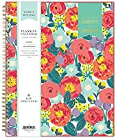 """Day Designer for Blue Sky 2021-2022 Academic Year Weekly & Monthly Planner, 8.5"""" x 11"""", Frosted Flexible Cover,..."""