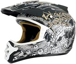Nikko N-719 Motocrosshelm Größe XL, schwarz/Gold