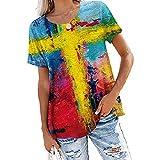 SLYZ Camiseta De Manga Corta Estampada A La Moda para Mujer Camiseta De Manga Corta Informal Suelta para Mujer