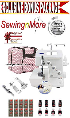 Best Review Of Juki Garnet Line MO-623 1-Needle, 2/3 Thread Serger w/Exclusive Platinum Series Bonus...